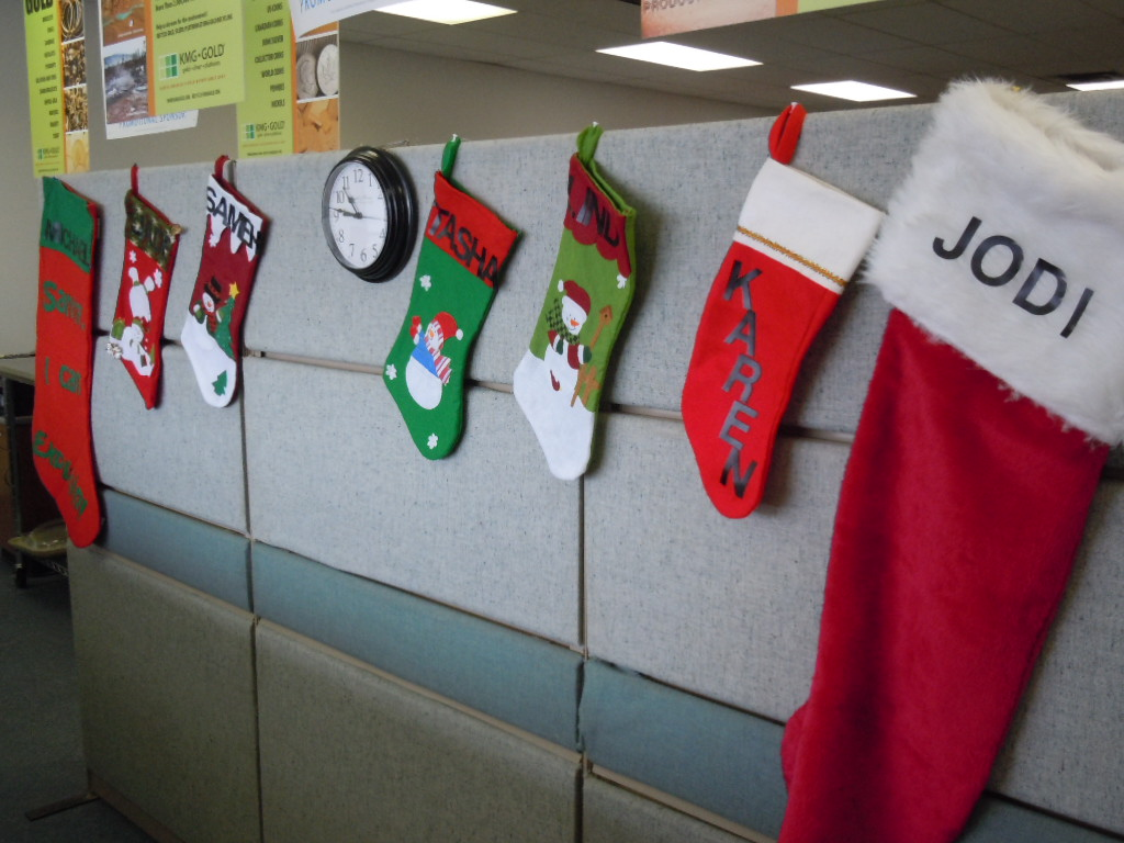 KMG Gold Recycling Christmas stockings