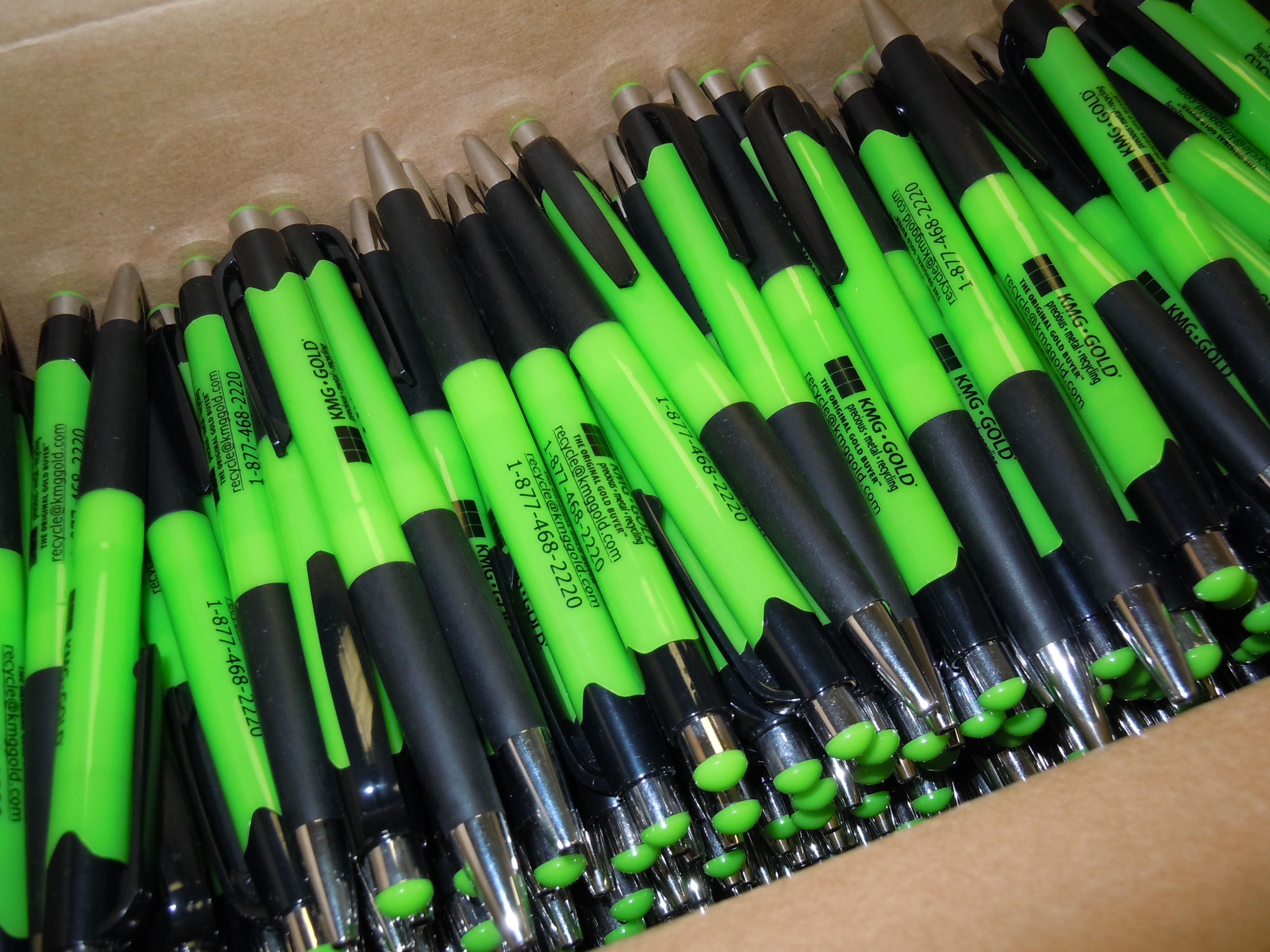 KMG Gold pens for trade show