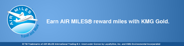 KMG Gold Recycling - AIR MILES(R) reward miles